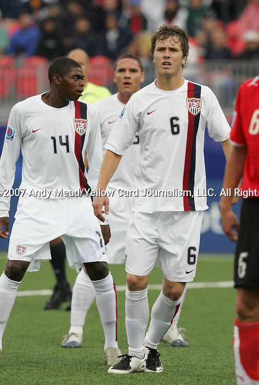 14 July 2007: United States' Michael Bradley. Austria's Under-20 Men's National Team defeated the Under-20 Men's National Team of the United States 2-1 after extra time in a  quarterfinal match at the National Soccer Stadium (also known as BMO Field) in Toronto, Ontario, Canada during the FIFA U-20 World Cup Canada 2007 tournament..