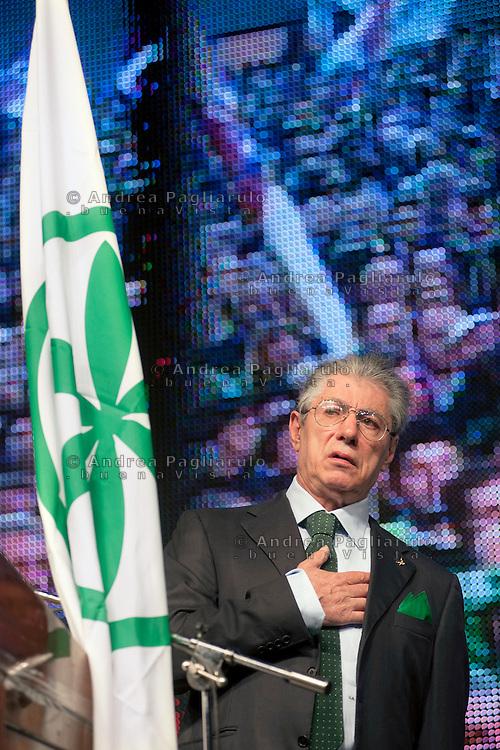 """Bergamo Fiera, 10/04/2012.Serata """"Orgoglio Padano"""" organizzata dalla Lega Nord"""