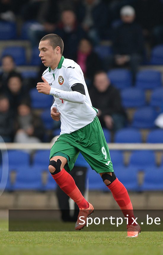 20160324 - Buderich , GERMANY : Bulgarian Stanislav Ivanov pictured during the soccer match between the under 17 teams of The Netherlands and Bulgaria , on the first matchday in group 4 of the UEFA Under17 Elite rounds in Buderich , Germany. Thursday 24th March 2016 . PHOTO DAVID CATRY