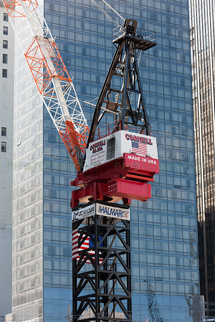 A construction crane at World Trade Center site.