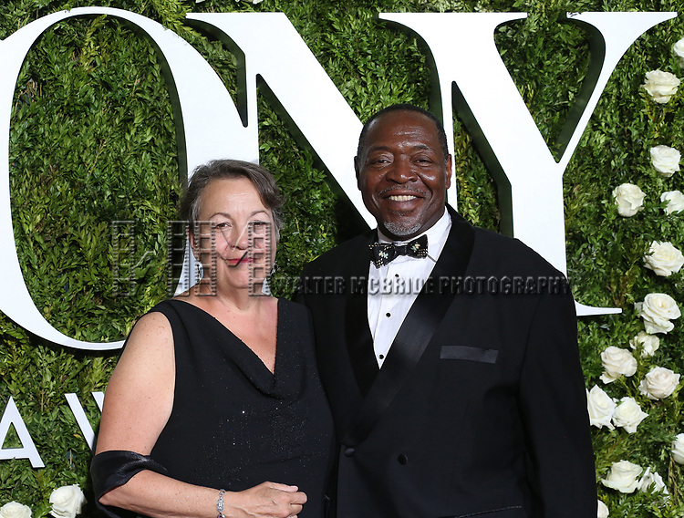Deborah Brevoort and Chuck Cooper attends the 71st Annual Tony Awards at Radio City Music Hall on June 11, 2017 in New York City.