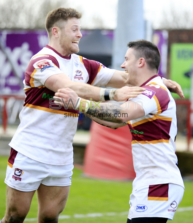 Picture by Chris Mangnall/SWpix.com - 16/04/2016 - Rugby League - 2016 Ladbrokes Challenge Cup Fifth Round - Batley Bulldogs v Featherstone Rovers - Fox's Biscuits Stadium, Batley, England -<br />