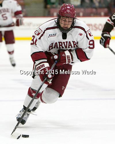 Jake Horton (Harvard - 91) - The Harvard University Crimson defeated the visiting Brown University Brown Bears 5-2 (EN) on Saturday, November 7, 2015, at Bright-Landry Center in Boston, Massachusetts.