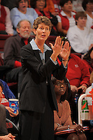 STANFORD, CA - JANUARY 10:  Associate head coach Amy Tucker of the Stanford Cardinal during Stanford's 102-53 win against the Washington State Cougars on January 10, 2009 at Maples Pavilion in Stanford, California.