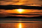 Sun setting in Alaska.