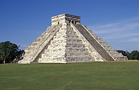 El Castillo or Pyramid of Kukulcan, Chichen Itza, Yucatan, Mexico