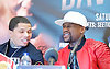 Floyd Mayweather Jr &amp; Frank Warren press conference at The Savoy Hotel, London, Great Britain <br /> 7th March 2017 <br /> <br /> <br /> <br /> Gervonta Davis <br /> (an American professional boxer who has held the IBF junior lightweight title since January 2017)<br /> <br /> Floyd Joy Mayweather Jr. is an American former professional boxer who competed from 1996 to 2015 and currently works as a boxing promoter. <br /> <br /> <br /> <br /> <br /> Photograph by Elliott Franks <br /> Image licensed to Elliott Franks Photography Services