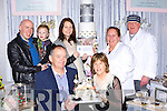 Deborah Moran from Valentia Cake Creations presents a Wedding cake voucher to Tracey Edwards, Kilcornan, Co Limerick after they won the competition on their stand at the wedding fair in the Malton Hotel on Sunday afternoon standing l-r: Keith, Cillian Edwards, Tracey Maguire, Deborah Moran and Carlton Jefferies, seated are the Keith's uncle and aunt Kevin and Joan Kiely Moyvane who actually won the prize but gave it to their nephew