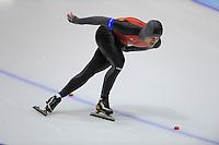 SCHAATSEN: HEERENVEEN: Thialf, 4th Masters International Speed Skating Sprint Games, 25-02-2012, Harry Pardijs (M35) 2nd, ©foto: Martin de Jong