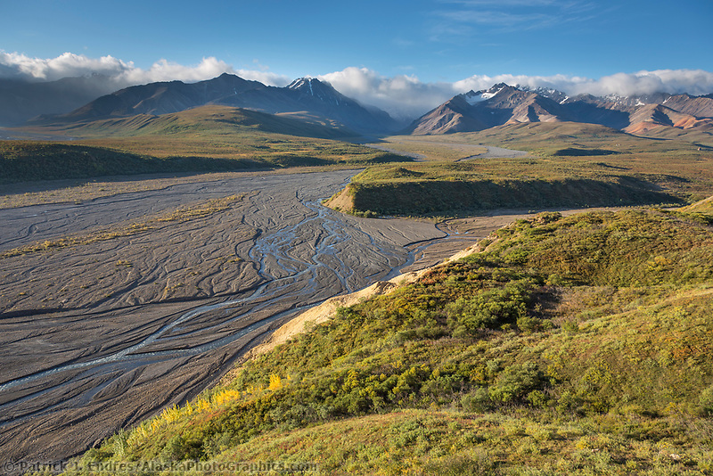 Patters in the braided river of the East Fork of the Toklat, Denali National Park, Alaska.