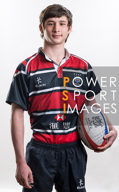 Hong Kong Junior Squad team member Max Woolf poses during the Official Photo Session Day at King's Park Sports Ground ahead the Junior World Rugby Tournament on 25 March 2014. Photo by Andy Jones / Power Sport Images