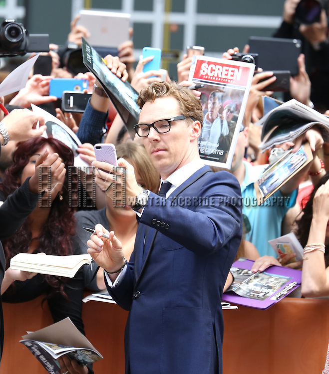 Benedict Cumberbatch attending the Red Carpet Arrivals for 'The Imitation Game' at the Princess of Whales Theatre during the 2014 Toronto International Film Festival on September 9, 2014 in Toronto, Canada.