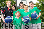 Improving their basketball skills at the inaugural Gneeveguilla Basketball Camp last week. .Front L-R John Hughes and Daniel Collins..Back L-R Roisin Daly, Sinead Crancher, Gearoid Daly and Colm O'Mahony. .