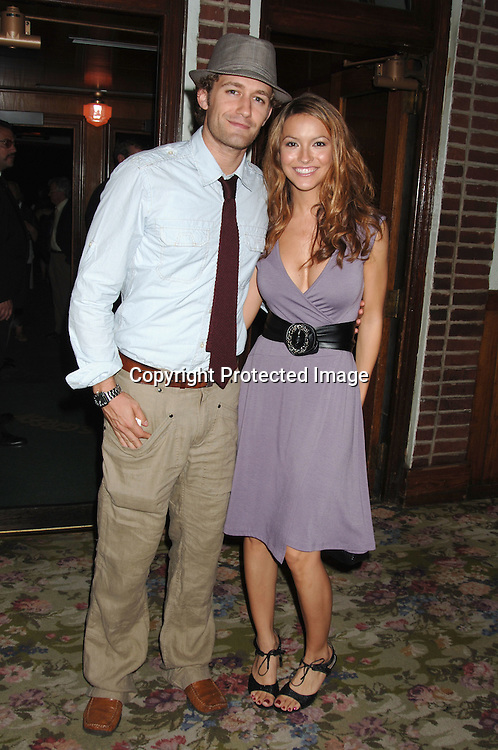 "Matthew Morrison and girlfriend Chrishell Stause..arriving for the Broadway Opening Night Party  of ""Martin Short: Fame Becomes Me"" on August 17, 2006 at The Tavern on The Green.  ..Robin Platzer. Twin Images"