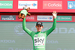 Michal Kwiatkowski (POL) Team Sky retains the Green Jersey at the end of Stage 5 of the La Vuelta 2018, running 188.7km from Granada to Roquetas del Mar, Andalucia, Spain. 29th August 2018.<br /> Picture: Unipublic/Photogomezsport | Cyclefile<br /> <br /> <br /> All photos usage must carry mandatory copyright credit (&copy; Cyclefile | Unipublic/Photogomezsport)