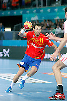 Spain and Croatia during 23rd Men's Handball World Championship preliminary round match, in the pic: Daniel Sarmiento Melian. January 19 ,2013. (ALTERPHOTOS/Caro Marin) /NortePhoto
