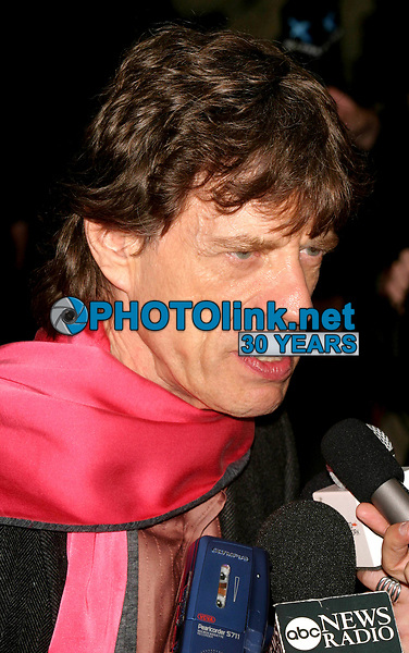 New York City<br /> CelebrityArchaeology.com<br /> 2003 FILE PHOTO<br /> Mick Jagger<br /> Photo by John Barrett-PHOTOlink.net<br /> -----<br /> CelebrityArchaeology.com, a division of PHOTOlink,<br /> preserving the art and cultural heritage of celebrity <br /> photography from decades past for the historical<br /> benefit of future generations.<br /> ——<br /> Follow us:<br /> www.linkedin.com/in/adamscull<br /> Instagram: CelebrityArchaeology<br /> Twitter: celebarcheology