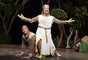 Monty Python's Spamalot a musical based on the film Monty Python and the Holy Grail. Book and Lyrics by Eric Idle. With Tim Curry as King Arthur,David Birrell as Patsy .  Opens at the Palace  Theatre on 16/10/06 CREDIT Geraint Lewis