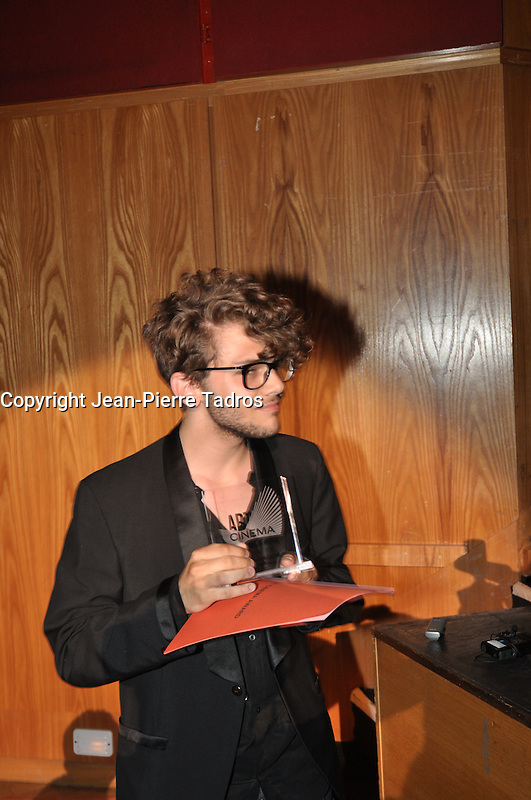 Canne - France - May 22 2009- Xavier Dolan getting his 2nd award today at canne Festival. Photo by Jean-Pierre Tadros  Images Distribution