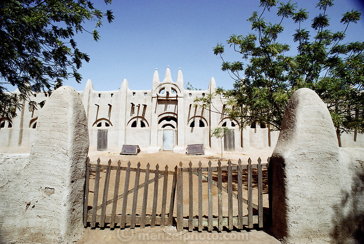 The mud-walled mosque (Muslim) in the W. African town of San, Mali. Material World Project.