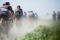 Daniël Oss (ITA/BMC) in the chasing group on pavé sector 20: Haveluy to Wallers<br /> <br /> 115th Paris-Roubaix 2017 (1.UWT)<br /> One day race: Compiègne > Roubaix (257km)