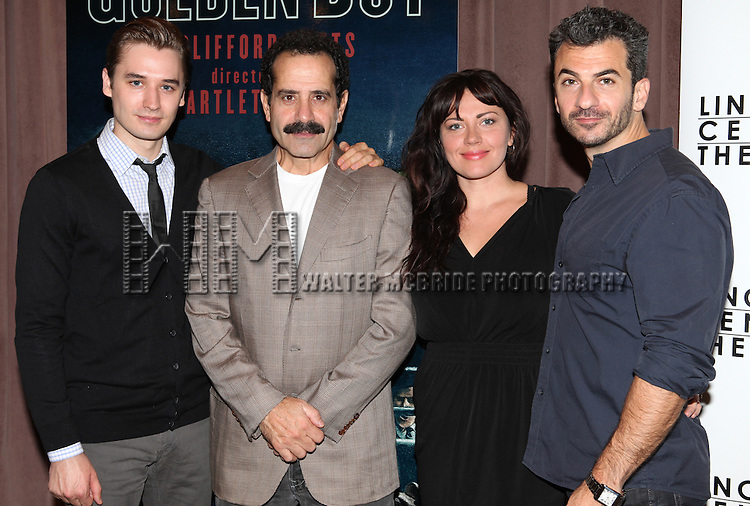 Seth Numrich, Tony Shalhoub, Dagamara Dominczyk and Michael Aronov attending the Meet & Greet for the Lincoln Center Theater's 75th Anniversary Production of 'Golden Boy' at their Rehearsal Studios on 10/25/2012 in New York.