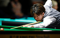 26th November 2019; York, England;  Lei Peifan of China competes during the UK Snooker Championship 2019 first round match with Stuart Bingham of England in York on Nov. 26, 2019.