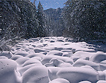 snowfall, Big Thompson River, Rocky Mountain National Park, Colorado
