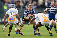 Tom Ellis of Bath Rugby in possession. Gallagher Premiership match, between Bath Rugby and Wasps on May 5, 2019 at the Recreation Ground in Bath, England. Photo by: Patrick Khachfe / Onside Images