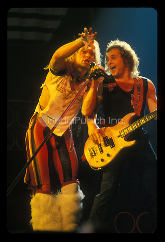 VAN HALEN performing live at The Los Angeles Memorial Sports Arena in Los Angeles, CA USA on September 19, 1980.  Photo © Kevin Estrada / Media Punch