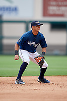 Lakeland Flying Tigers shortstop David Gonzalez (1) during the first game of a doubleheader against the St. Lucie Mets on June 10, 2017 at Joker Marchant Stadium in Lakeland, Florida.  Lakeland defeated St. Lucie 6-5 in fourteen innings.  (Mike Janes/Four Seam Images)