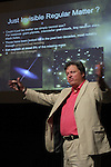 LEAD, S.D. -- JULY 13, 2013 -- Brown University physicist Rick Gaitskell speaks about the search for dark matter during Neutrino Day activities at the Historic Homestake Opera House in Lead, S.D. Saturday. (Photo by Richard Carlson/dakotapress.org)