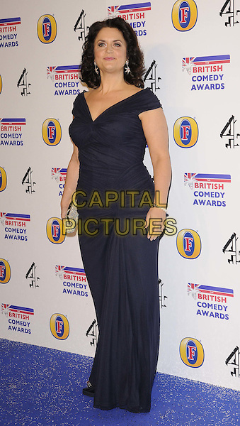 Ruth Jones.attended the British Comedy Awards 2011, Fountain Studios, Wembley, London, England, UK, .16th December 2011..arrivals full length  navy blue ruched dress long maxi .CAP/CAN.©Can Nguyen/Capital Pictures.