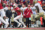 Wisconsin Badgers running back Rachid Ibraham (9) carries the ball during an NCAA College Football Big Ten Conference game against the Purdue Boilermakers Saturday, October 14, 2017, in Madison, Wis. The Badgers won 17-9. (Photo by David Stluka)