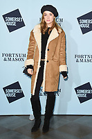 Sophie Rundle<br /> arriving for the Skate at Somerset House 2017 opening, London<br /> <br /> <br /> ©Ash Knotek  D3351  14/11/2017