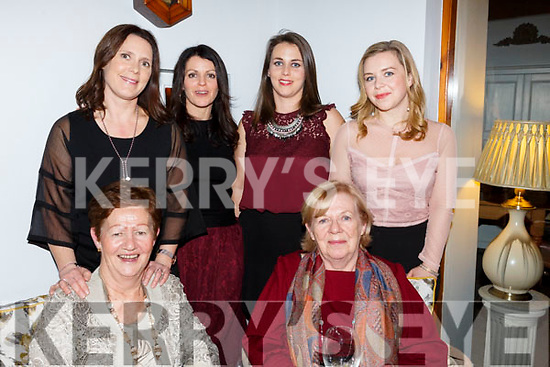 Rose Jameson of Tralee, celebrating her birthday in Bella Bia on Saturday night.<br /> Seated l-r, Laura McQuirken and Rose Jameson.<br /> Standing l-r, Deirdre, Michelle, Amanda and Noelle Jameson.