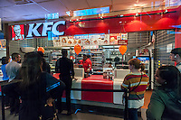 A KFC restaurant in New York on Tuesday, October 4, 2016.  Yum Brands, the owner of KFC, Taco Bell and Pizza Hut is scheduled to report third-quarter earnings on Wednesday after the bell. (© Richard B. Levine)