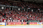 A general view of the Kohl Center during the Wisconsin Badgers  WCHA Conference NCAA college women's hockey game against the Bemidji State Beavers on January 28, 2012 in Madison, Wisconsin. The Badgers won 1-0. (Photo by David Stluka)