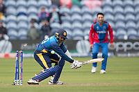 Lasith Malinga (Sri Lanka) is bowled by Dawlat Zadran (Afghanistan) during Afghanistan vs Sri Lanka, ICC World Cup Cricket at Sophia Gardens Cardiff on 4th June 2019