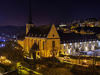 Abtei Neum&uuml;nster in Grund, Luxemburg-City, Luxemburg, Europa, UNESCO-Weltkulturerbe<br /> Abbey Neum&uuml;nster in Grund, Luxembourg City, Europe, UNESCO Heritage