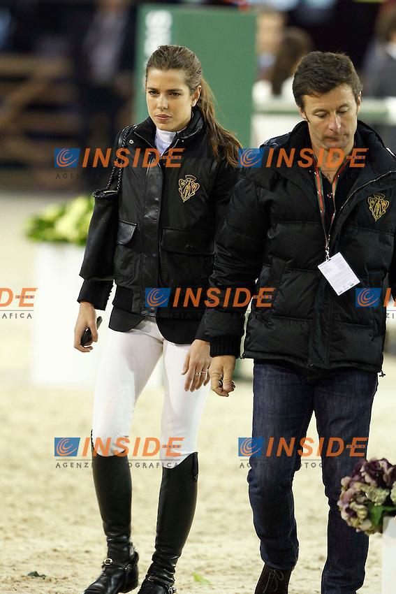 Thierry Rozier (entraineur) et Charlotte Casiraghi.2/12/2011 Villepinte (Francia) Equitazione Gucci Masters.Foto Insidefoto / Gwendoline Le Goff / Panoramic
