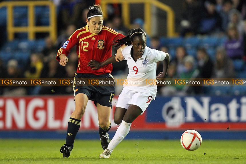 Eniola Aluko of England in action - England Women vs Spain Women - FIFA Women's World Cup 2011 Qualifier at The New Den, Millwall FC, London -  01/04/10 - MANDATORY CREDIT: Gavin Ellis/TGSPHOTO - Self billing applies where appropriate - Tel: 0845 094 6026