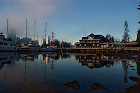 Reflection of boat house, Stanly park English bay.Vancouver,British Colombia, Canada