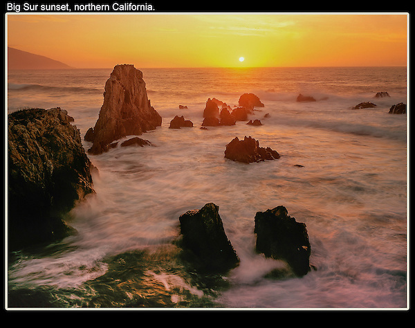 A long shutter speed has a nice softening effect on the water.<br />