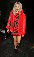 Olivia Cox at the Abbott Lyon x Chloe Lewis Christmas Campaign launch, Vanilla London, Great Titchfield Street, London, England, UK, on Wednesday 07 November 2018.<br /> CAP/CAN<br /> &copy;CAN/Capital Pictures