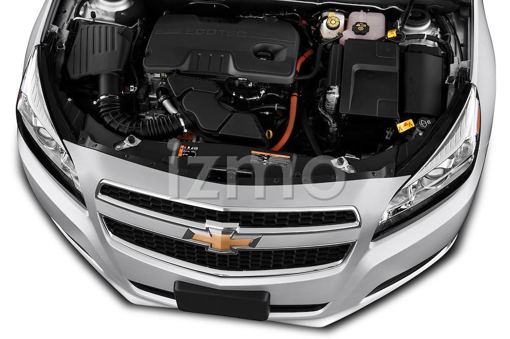 High angle engine detail of a  .2013 Chevrolet Malibu ECO 1SA