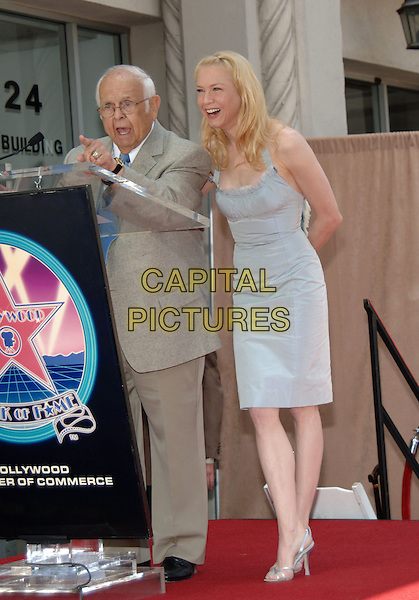 24 May 2005 - Hollywood, California - Renee Zellweger and Johnny Grant. Renee Zellweger Honored with a Star on the Hollywood Walk of Fame for Her Achievements in Film on Hollywood Boulevard. Photo Credit: Jacqui Wong/AdMedia