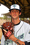 24 June 2008: Vermont Lake Monsters pitcher David Slovak. Baseball Card Image for 2008. For in-house use by the Vermont Lake Monsters Only. Editorial or other use of images by other publications or media outlets must secure licensing from the photographer Ed Wolfstein prior to publication, and is based on standards of circulation, and placement in a given publication...Mandatory Credit: Ed Wolfstein.