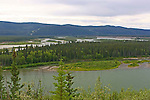 FIVE FINGER RAPIDS AND THE YUKON RIVER, THE YUKON, CANADA.