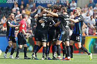 Rotherham United players celebrate their second goal during the Sky Bet Championship match between Swansea City and Rotherham United at the Liberty Stadium, Swansea, Wales, UK. Friday 19 April 2019